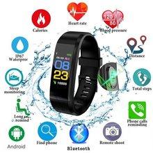 Умный Браслет монитор сердечного ритма Монитор артериального давления спортивные часы счетчик шагов сообщение Push pk fitbits mi Band 2 3