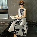 Vestidos Лето Dress Женщины Элегантной Розы Тонкий Платья Партии Рукавов Женской Одежды Милые Случайные Принцесса Dress Bodycon Халат