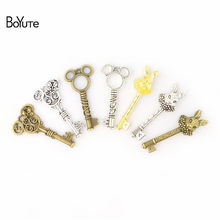 BoYuTe (5 Pieces/Bag) 16*51MM Peter Rabbit 24*47MM Minnie 23*47MM Mickey Key Pendant Diy Hand Made Alloy Jewelry Accessories(China)
