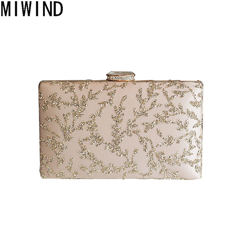 MIWIND Evening Bags Women Clutch Bags Evening Clutch Bags Wedding Bridal Handbag Bridal Wedding Party Bag Bolsa Mujer 1304 women evening handbag beads clutch bags wedding party bridal purse bag vintage embroidered flower ladies totes bags