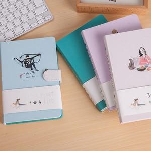 Image 2 - חמוד Kawaii מחברת 365 דלי לרשימת ספרי יד A5 מתכנן יומן סדר יום יומן מחברת נוסעי כתיבה
