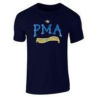 New Men S Fashion Short Sleeve T Shirt Mens PMA Positive Mental Attitude
