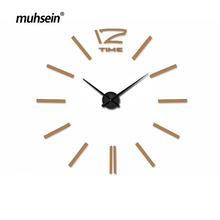 muhsein 2020New Arrivals Wall Clocks Creative Modern Wall Stickers Unique Big DIY 3D Digital Mirror Art