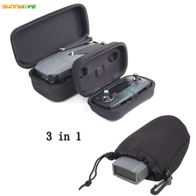 Sunnylife Protection Combo Remote Controller Hardshell Case Drone Body Housing Box Battery Storage Cloth Bag for