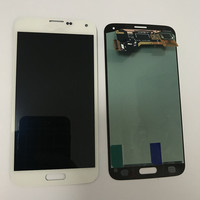100% Original Burn Shadow For Samsung s5 G900 G900F LCD For Samsung G900F S5 Display LCD Screen Touch Digitizer Assembly