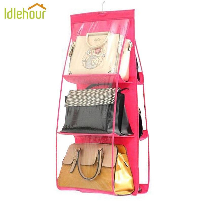 6 τσέπης πτυσσόμενο κρεμαστό τσάντα αποθήκευσης διοργανωτής κρεμαστά ... c2c0f7d29a7