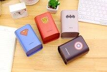 Square piggy bank Logbook Series Batman Superman Captain America  Tin box Money Saving Coin Box Storage Tank Gift