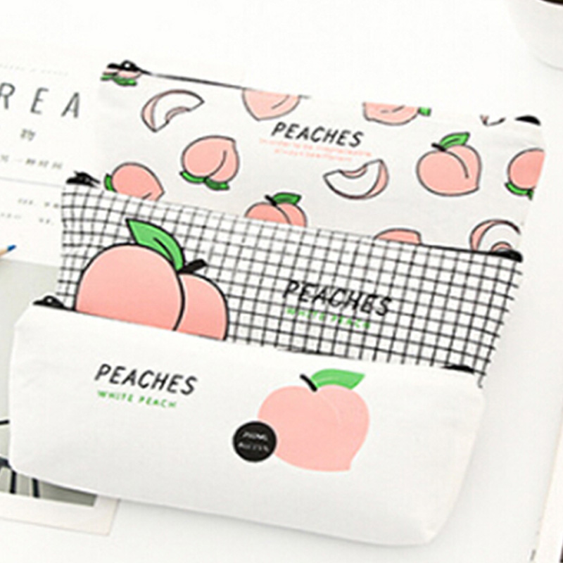Women Travel Toiletry Cosmetic Bag Pencil Make Up Makeup Case Storage Pouch Purse Organizer Peach Printing Students Bags big toe sandal