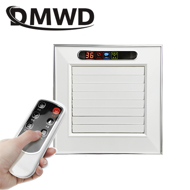 DMWD ceiling Ventilator Extractor Exhaust Fans Kitchen cold wind remote Cooling fan Mute Hanging cooler Ionizer Air purifier computador cooling fan replacement for msi twin frozr ii r7770 hd 7770 n460 n560 gtx graphics video card fans pld08010s12hh