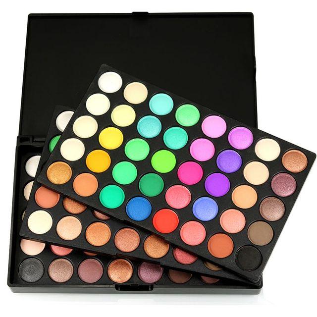 120 colores sombra de ojos brillo mate sombra de ojos paleta juego de maquillaje de ojos cosméticos de alta calidad