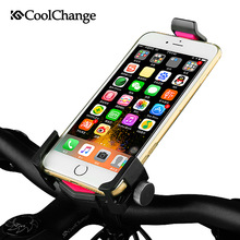 Coolchange Universal Bike Phone Mount Adjustable Holder GPS 360 Rotating Samsung HTC Sony Cellphone Cycling Bicycle Accessories