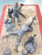 Resin Kits 1 35 American sniper include 2 soldiers not include the base Unpainted Kit Resin
