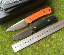 LOVOCOO  Nettle fixed blade knife D2 steel G10 handle outdoor hunting survival pocket kitchen fruit knives practical edc tools