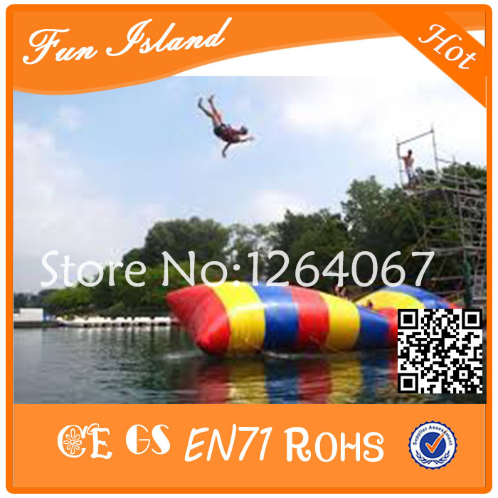 Free Shipping 6x2m Most popular inflatable water catapult blob Inflatable Blob Jumping water blob jump for sale water pillow