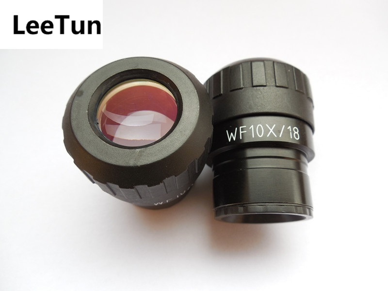 Pair WF10X/18 Eyepiece for Stereo Microscope Mounting Size 30mm with Diopter Adjustable Wide Field 18mm
