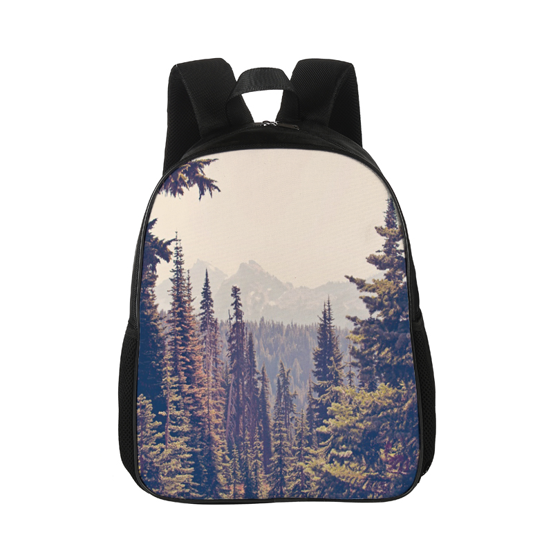 15 Inches Backpack Canvas Backpack School Girls Rucksack Travel Backpack Landscape Design Bag
