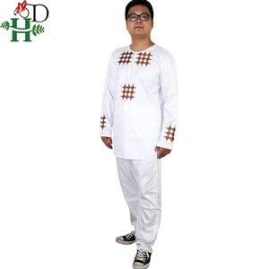 Image 2 - H & D gli uomini del ragazzo del bambino abbigliamento 2020 mens camicia dashiki africano africa bazin riche outfit abbigliamento top vestiti di mutanda vetement africain