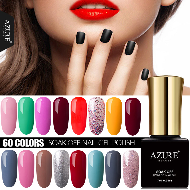⊰Azure Beauty 7ML Newest Color Gel Shiny Glitter UV Nail Gel Polish ...