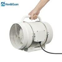 8 дюймов 220 в домашний портативный Встроенный воздуховод вентилятор воздуха вентилятор вытяжной вентилятор экстрактор с ручкой и сеткой ку
