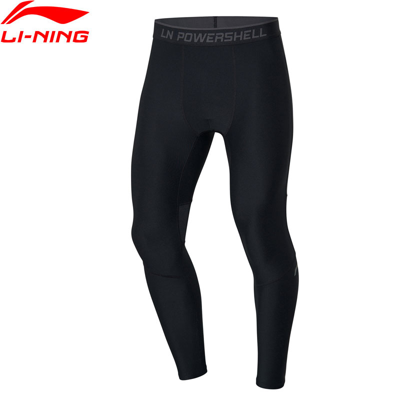 Li-Ning Men Training Series Base Layer 83% Nylon 17% Spandex LiNing Fitness Gym Elastic Sports Pants Tights AULP047 JAS19(China)