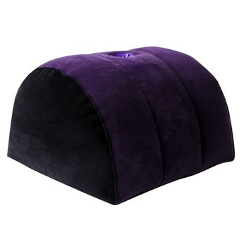Toughage Sex Sofa Inflatable Sexual Position Pillow Sex Furnitures Half Circle Shape Aid Wedge PVC Flocking Cushion For Couples