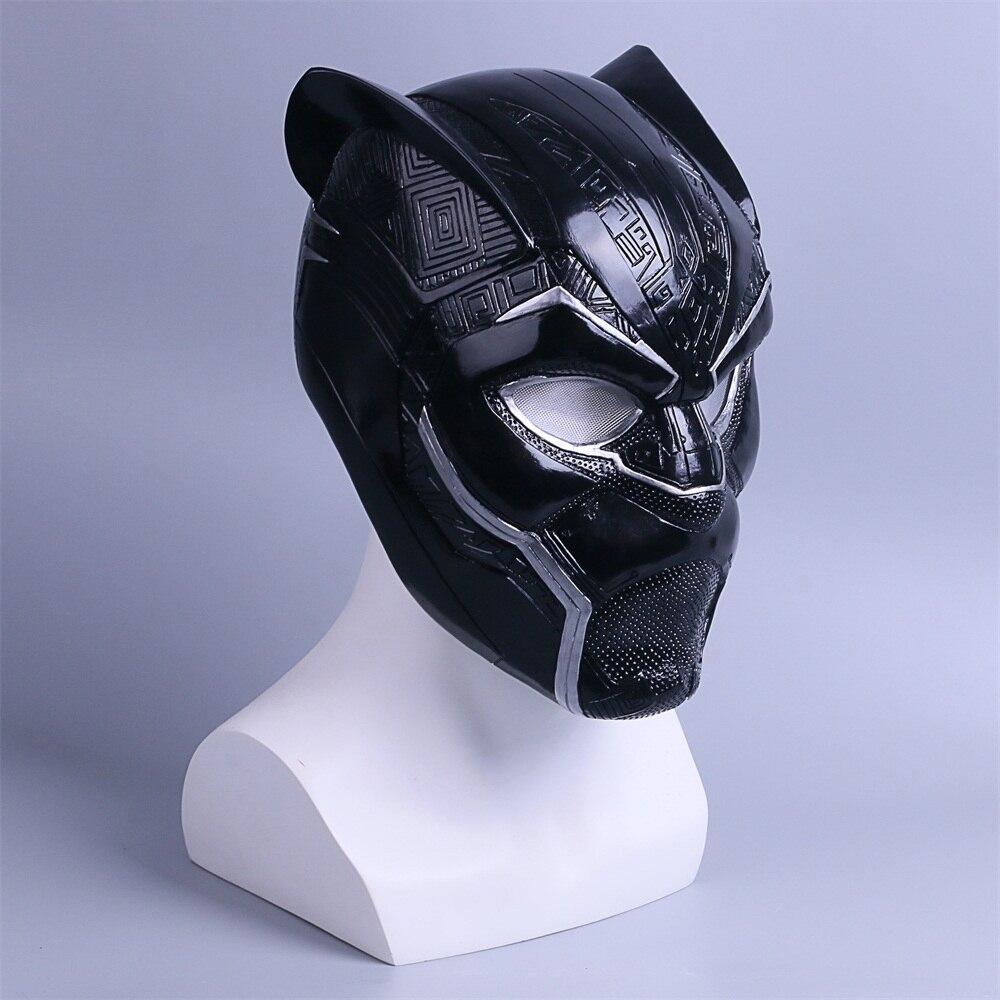 2018 New Black Panther Helmet Cosplay T'Challa Mask Costume Halloween Helmet Handmade PVC prop (5)