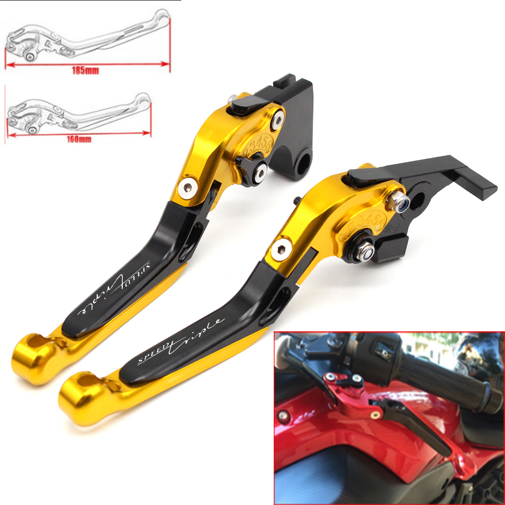 Motorcycle CNC Adjustable Foldable brake Clutch Levers for Triumph SPEED TRIPLE 1997 1998 2001 2002 2003