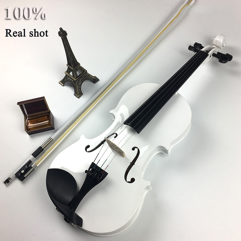 Beginner's Adult Multiple sizes 4/4 Exercises Violin Tilia Five Colors Optional Decoration Stage Props Factory Direct Selling