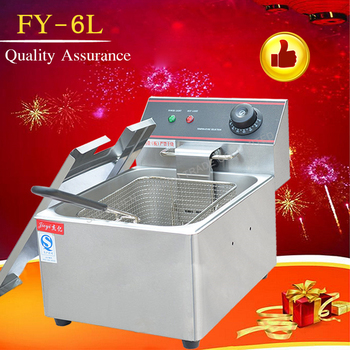 1PC Electric Fryer Household Single cylinder thermostat no fumes chicken fries machine FY-6L Non-stick pan Hot Sale