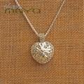 Томас Стиль Сердце с Крестом Рисунок Ожерелье в Покрытием, европейский TS-Стиль Прекрасный Подарок Ювелирные Изделия для Женщин