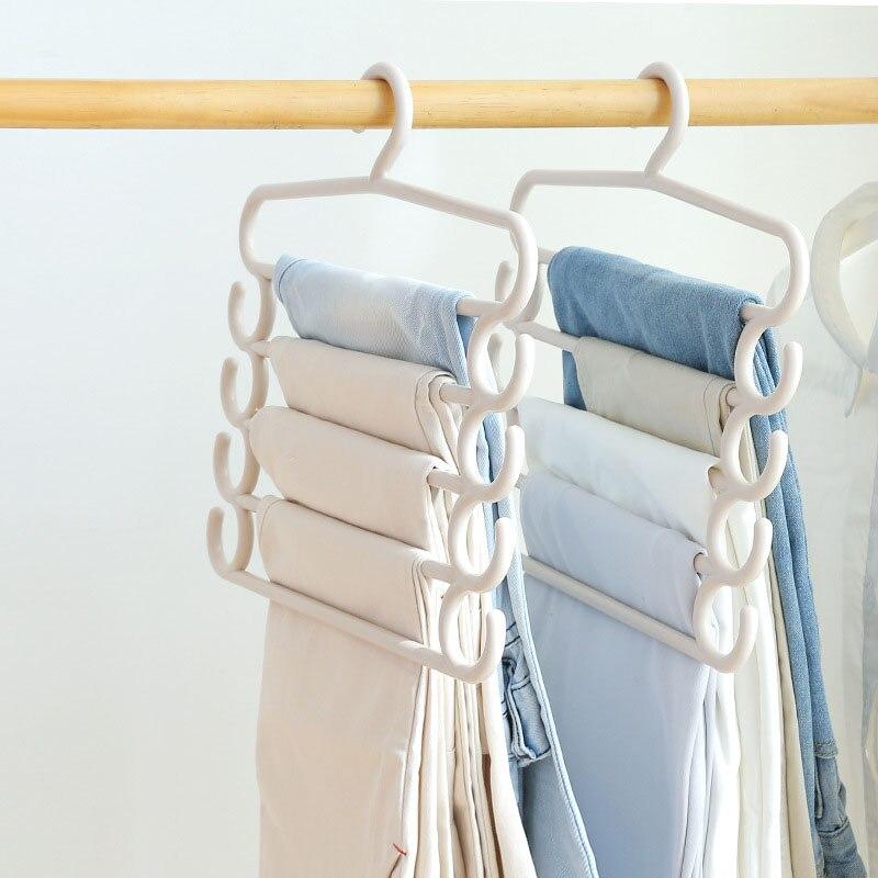 Multi Layer Clothes Hanger Holder Space Saving Wardrobe Organizer Pants Towel Tie Scarf Storage Rack 2018ing