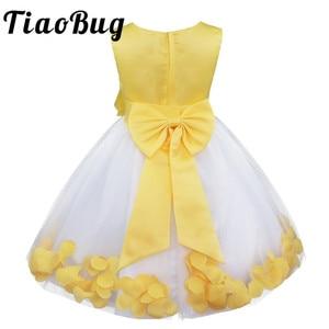 Image 1 - Tiaobug infantil vestido de flor infantil meninas vestidos pétalas elegante pageant formal vestido da menina de flor para vestidos de festa de casamento