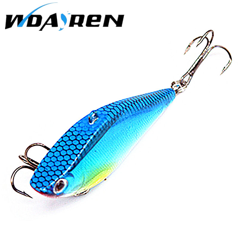 1Pcs VIB laser Hard Bait 14g 6.3cm Lures Fishing Bait Treble Hooks Sinking Crankbait Fishing Tackle Fish Wobbler Pesca YR-450 wldslure 1pc 54g minnow sea fishing crankbait bass hard bait tuna lures wobbler trolling lure treble hook
