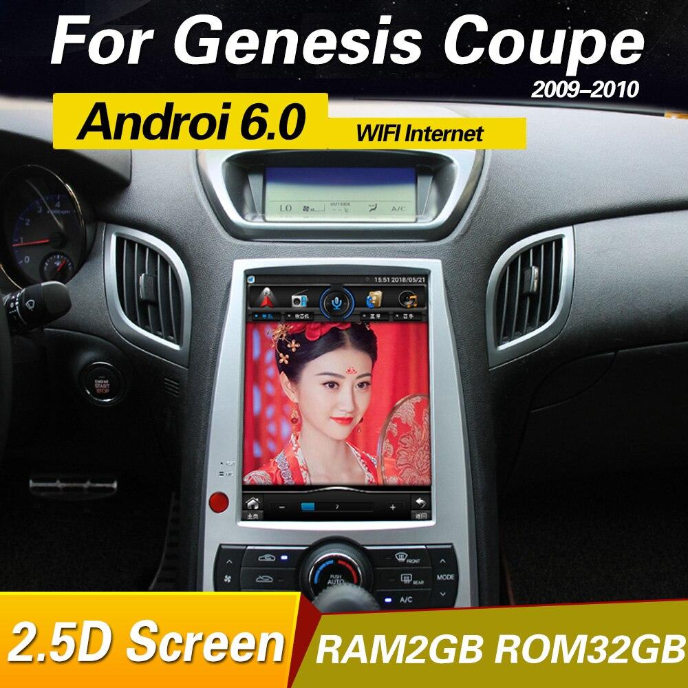 Android 6.0 Autoradio GPS Unité de Tête Pour Hyundai rohens genesis coupé 2008-2014 multimédia lecteur système
