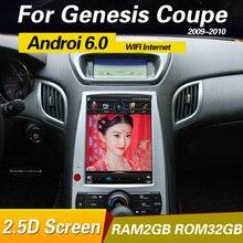 Android 6,0 Автомобильный Радио gps головное устройство для hyundai rohens genesis coupe 2014-2008 мультимедийный плеер системы