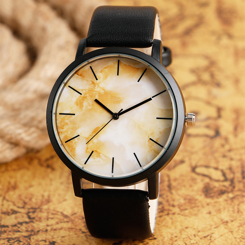 Antique Finish Quartz Watch Male Unique Sport Simple Wristwatches Men Stylish Fashion Leather Strap Relogio Masculino