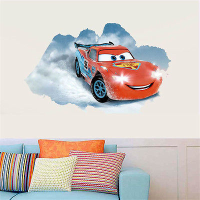 Wonderful Out Wall Decal 3D Cars McQueen Mater Sticker Decals Kids Room Decor Mural  Vinyl(China Part 31