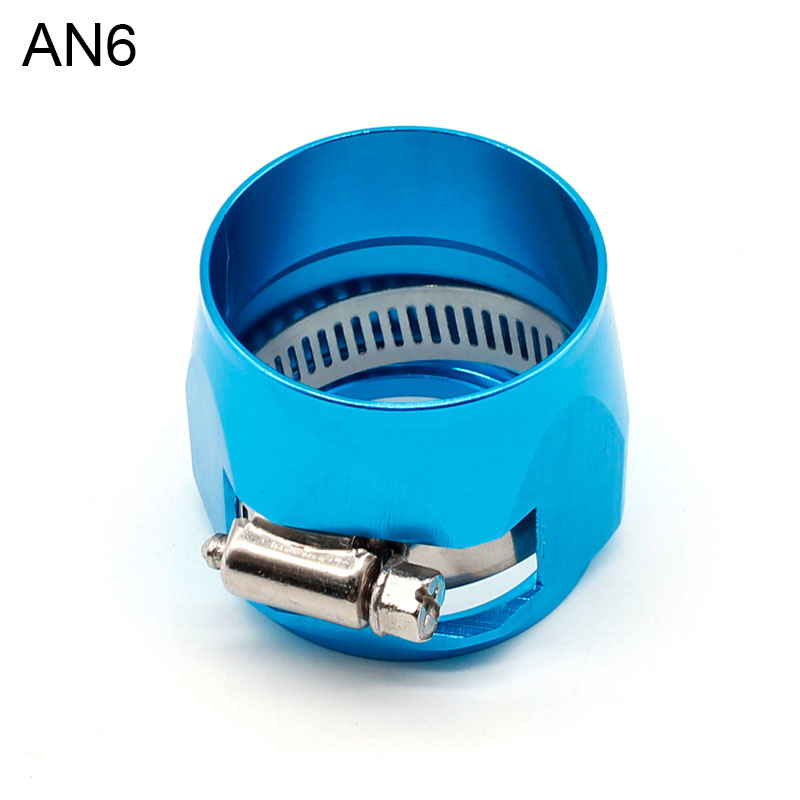 8 AN AN8 17mm Blue Fuel Hose Clamp Finishers