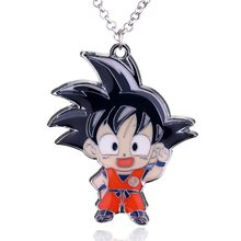 2 style Dragon Ball Z Necklace Super Saiyan Son GOKU Metal Model Pendant Necklaces Anime Jewelry gift choker necklace