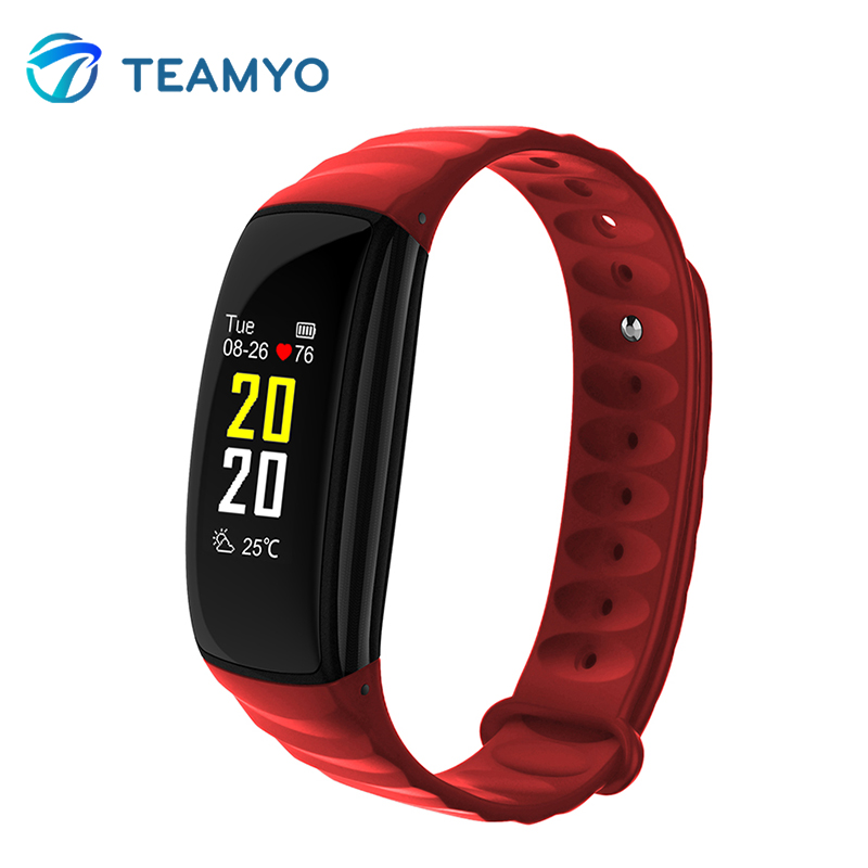 Teamyo Smart Band Color Screen Heart Rate Monitor Fitness Tracker Blood Pressure Oxygen Smart Bracelet For for Android IOS