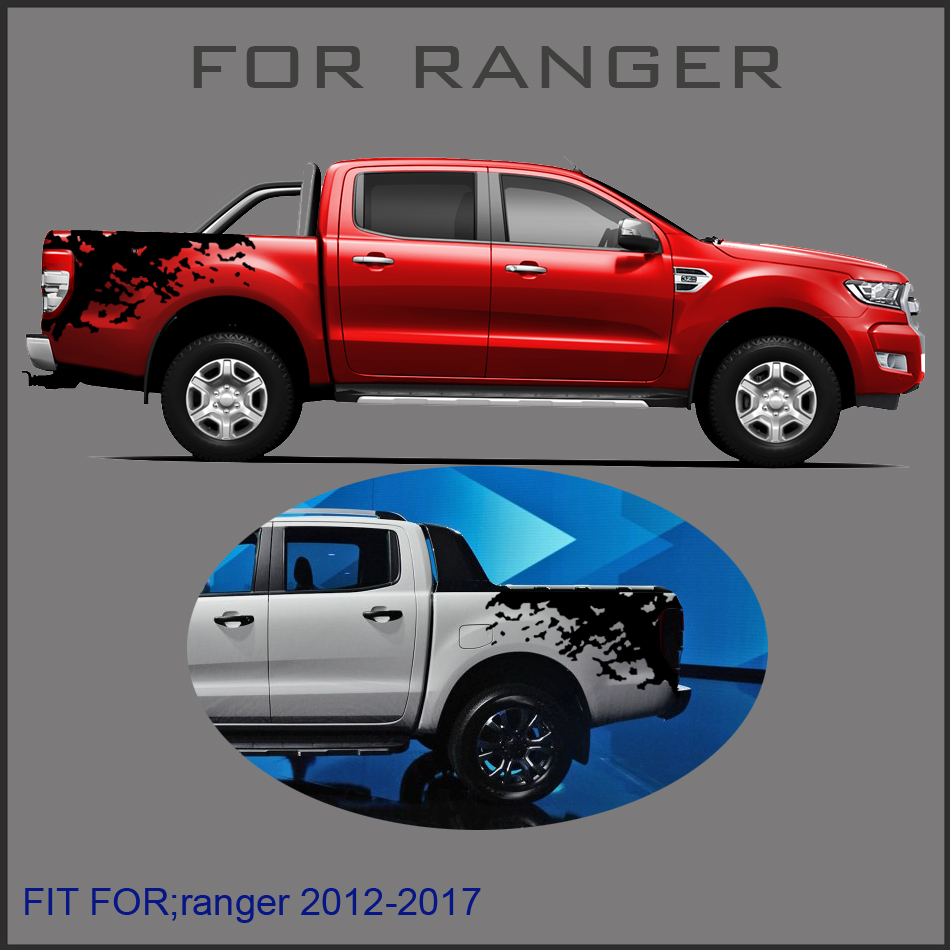 mudslinger ranger wildtrack body rear tail side graphic vinyl for Ford ranger 2012 -2017sticker стоимость