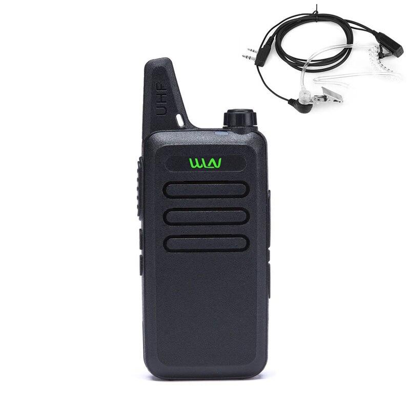 WLN KD-C1 Mini Radio Walkie Talkie UHF 400-470 MHz handfunkgerät cb radio Zwei-wege Ham Tragbaren Radio (Black & White)
