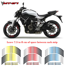 Hot sell High quality Motorcycle 17 inch Wheel Sticker Decal Reflective Rim Bike Suitable For YAMAHA MT-07 for aprilia mv agusta yamaha kawasaki honda bmw 848 1098 gsxr wheel sticker decal reflective rim motorcycle suitable for 17 inch