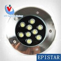 20pcs/lot FEDEX DHL 9W LED underground light 9W 45mil big chip Buried foot ground floor spot lamp DC12V24VAC85 265V
