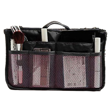 Organizer Insert Bag Women Nylon Travel Makeup Cosmetic Handbag Tote 2