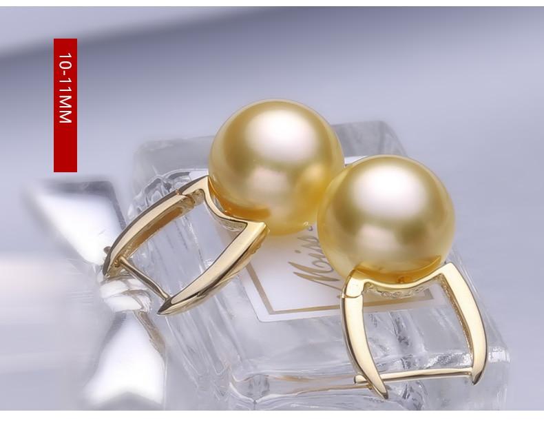 gold southsea pearl earrings jewelry 44