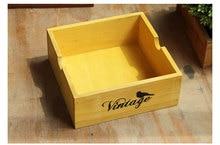 1PC Garden Planter Wooden Pot for Succulent Flower Plants Window Box Boxes Trough Storage JL 103