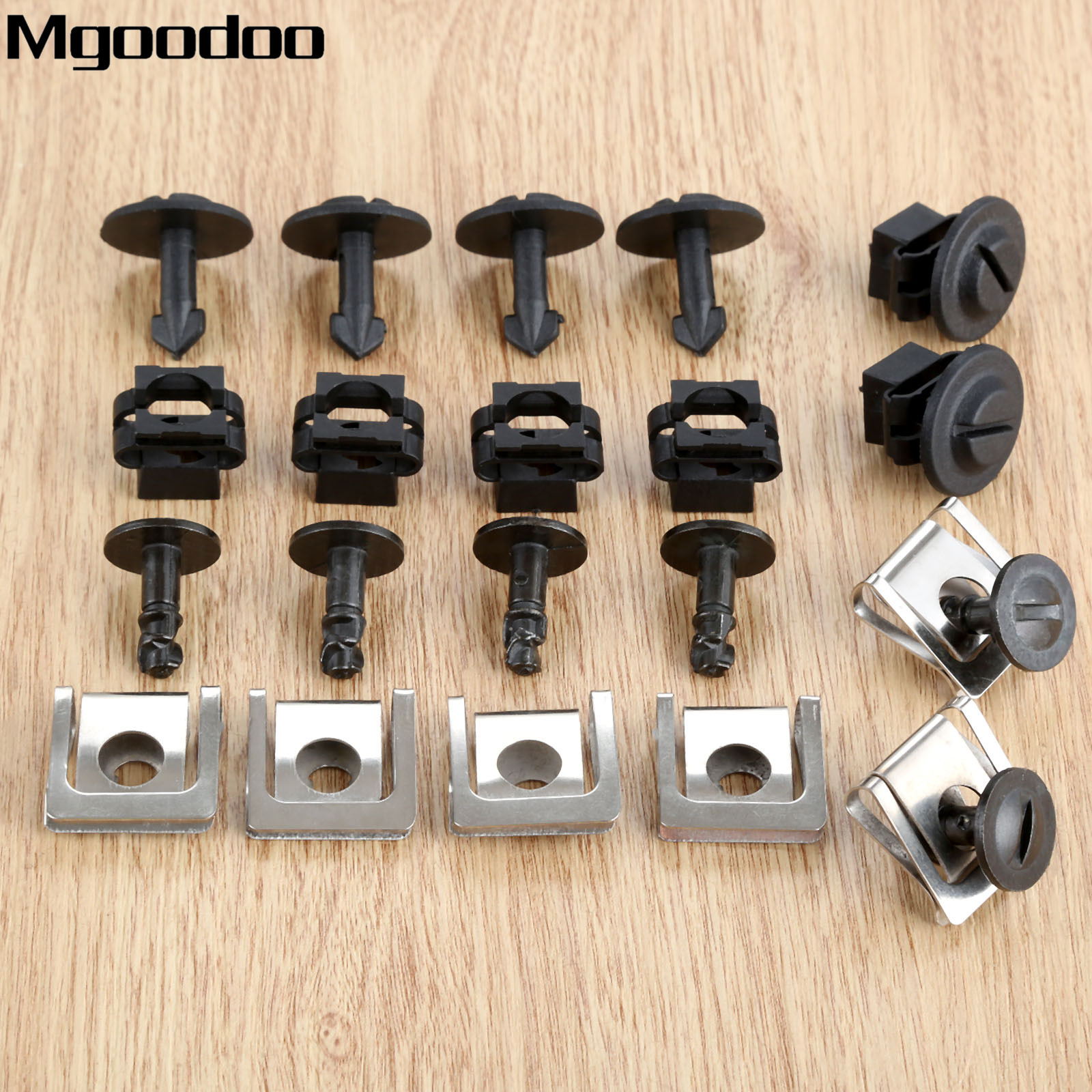 NEW FULL SET UNDER ENGINE COVER GEARBOX WHEEL ARCH CLIPS FOR VW  AUDI A4//A6//B5