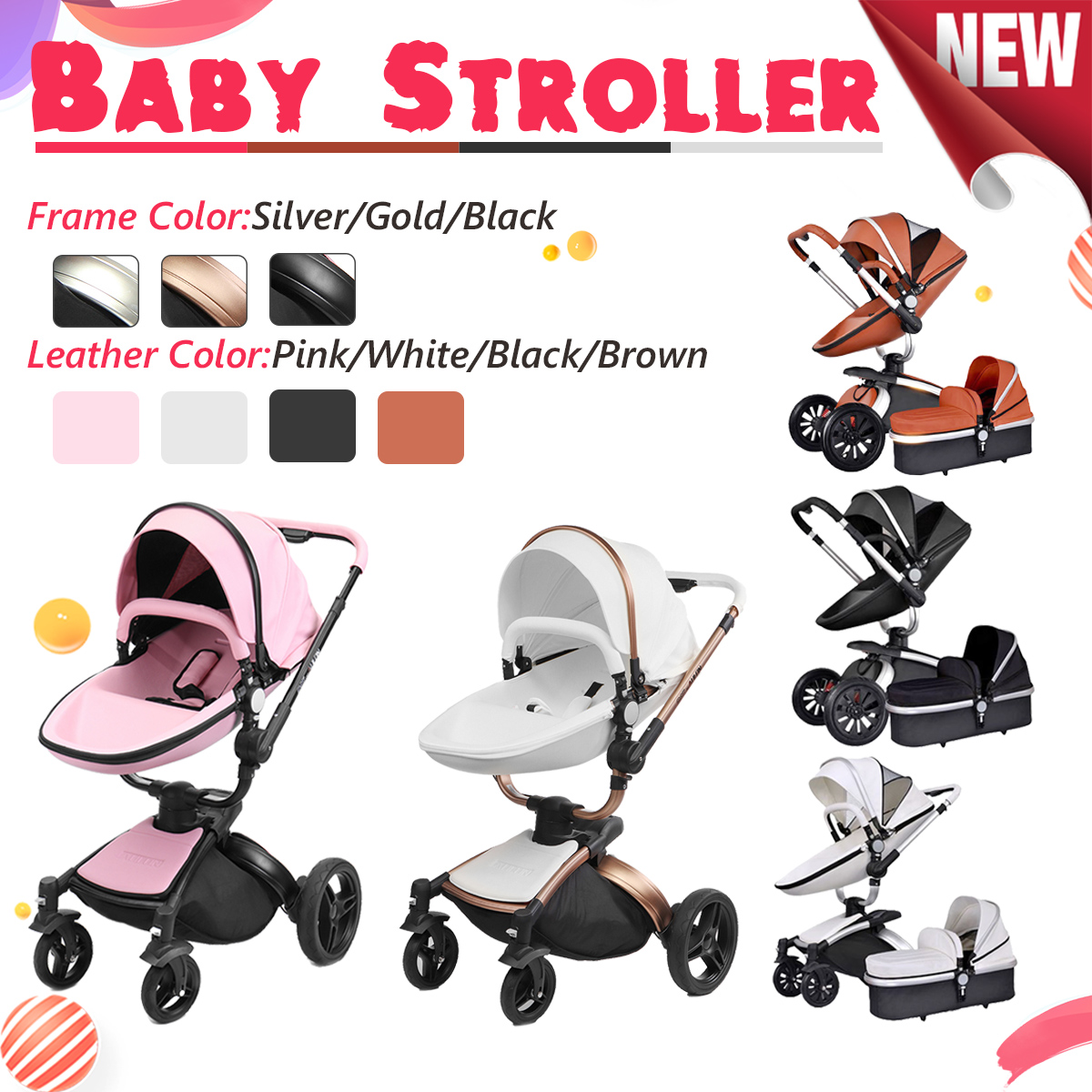 2 in 1/3 in 1 Baby stroller With Car Seat High Landscope Folding Baby Carriage For Child From 0-3 Years Prams For Newborns baby stroller 3 in 1 high landscape baby carriages for kids with baby car seat prams for newborns pushchair baby car