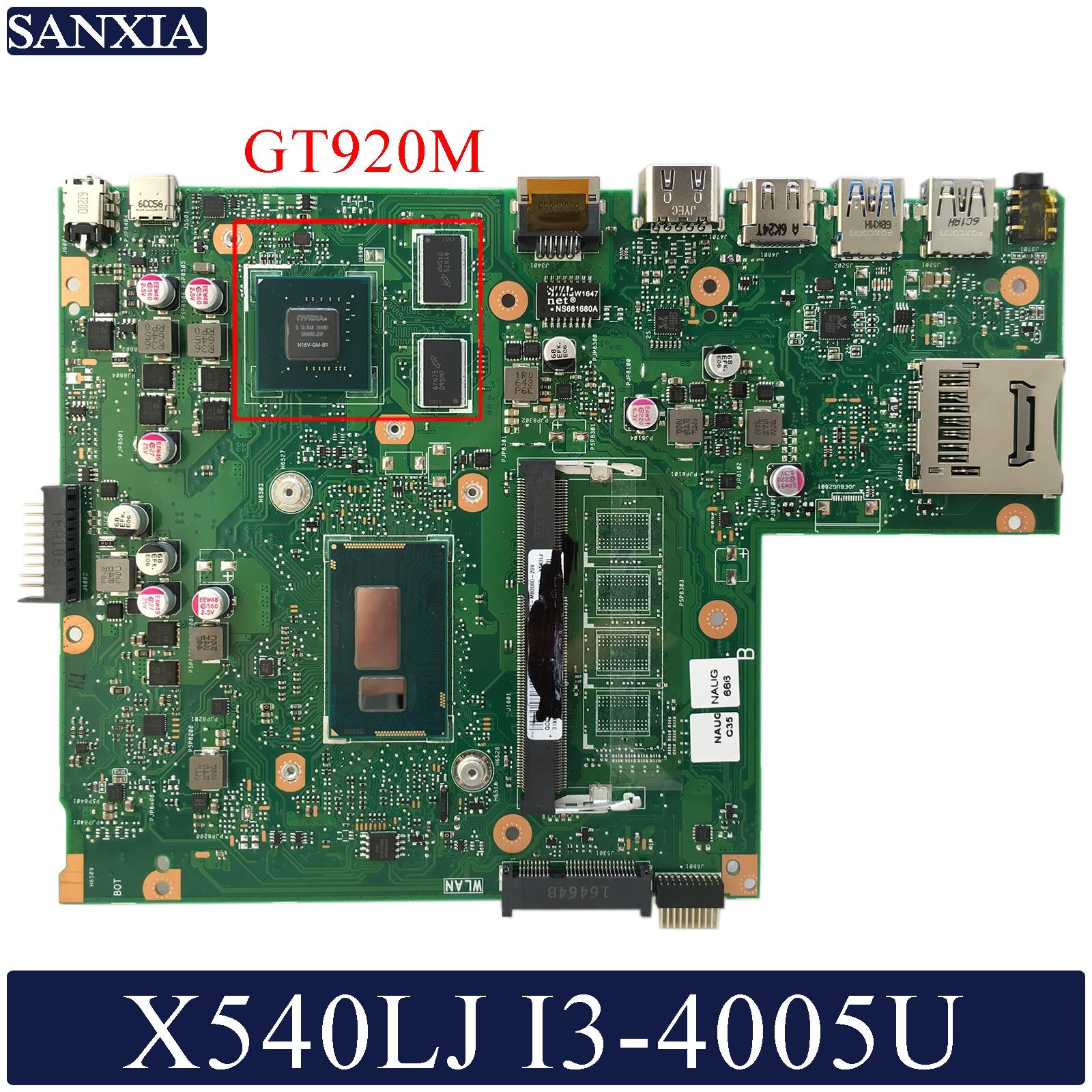 KEFU X540LJ Laptop motherboard for ASUS VivoBook X540LJ X540LA F540L A540L original mainboard I3 4005U GT920M